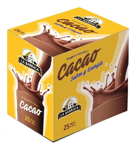 Preparado alimenticio al Cacao