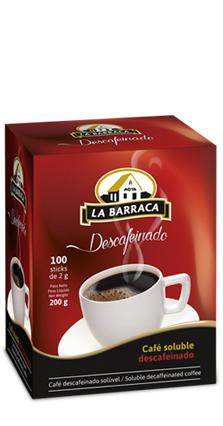 Café Soluble Descafeinado Caja 100 tubos
