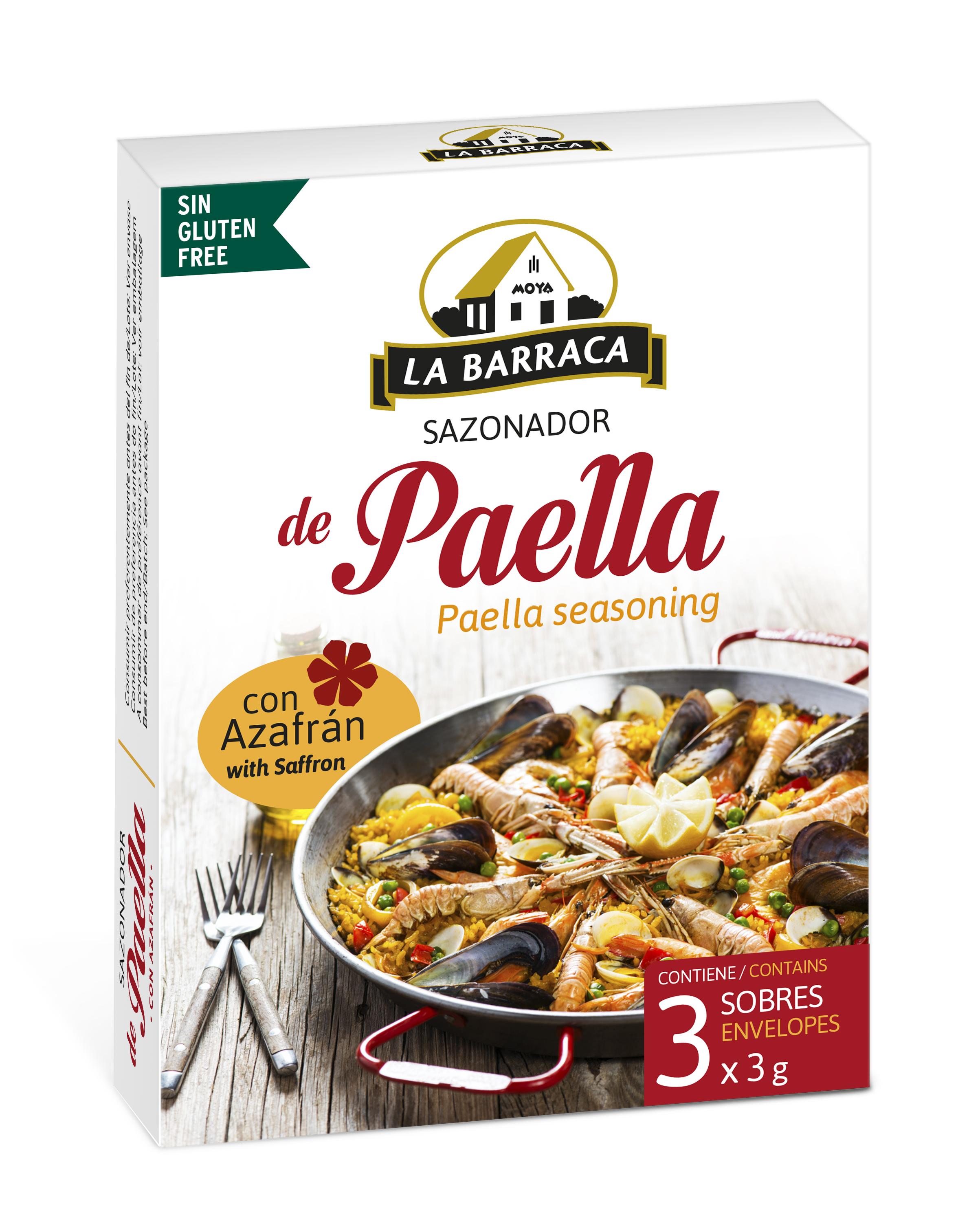 Sazonador Paella con Azafrán Estuche 3 sobres