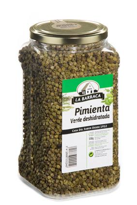 Pimienta Verde<br /> Deshidratada Bote Granel