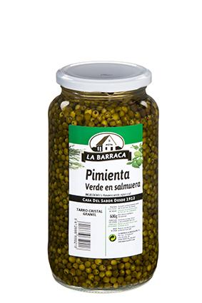 Pimienta Verde<br /> en Salmuera Tarro Cristal 650 g