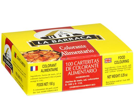 Colorante Alimentario caja 100 carteritas